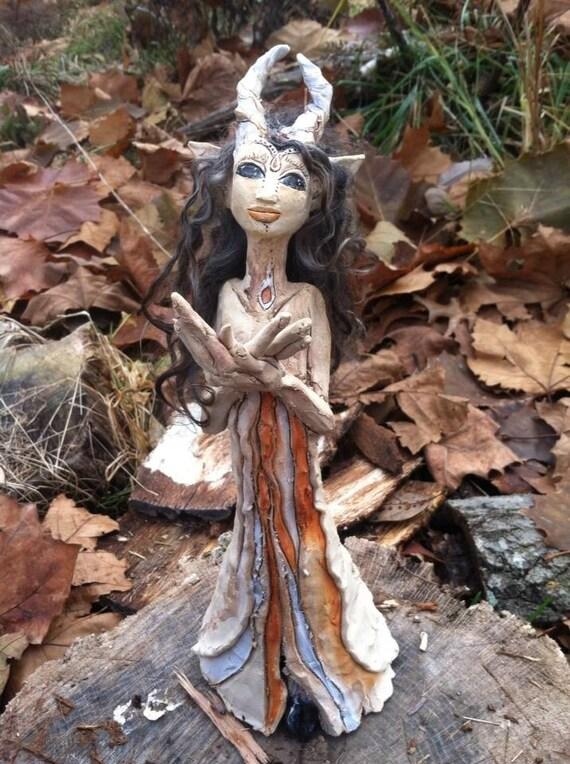 Gratitude. A forest Fawn. OOak art doll