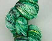 """Hand Dyed 75/25% Superwash Merino Wool & Nylon Sport Weight Yarn, """"Emerald City"""" 274 yards"""