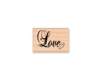LOVE- wood mounted Rubber Stamp (mcrs 26-22)