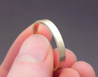 Gold Wedding Band - Solid 14k Yellow Gold Wedding Ring