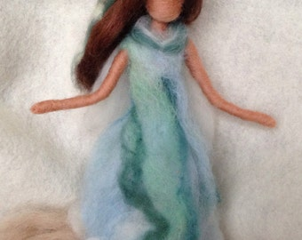 Needle Felted Mediterranean Sea Fairy