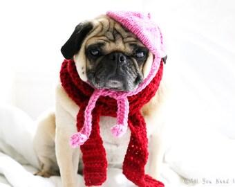 Petite French Dog Beret and Scarf Set - Dog Gift Set - Dog Clothing - Pet Clothing - Pet Fashion