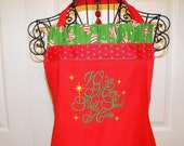Christmas Holiday Apron  Embroidered with Wise Men Still Seek Him