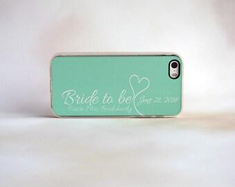 Bride iPhone Case, Bride to Be, Future Mrs, Mint, Wedding iPhone 4, 4s, 5, 5s, 5c, 6, 6s, 6 Plus, 6s Plus Case, Galaxy S3, S4, S5, S6 Case