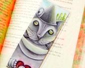 Tin Man Cat Bookmark Metal Cat Wizard of Oz Inspired Cat Bookmark