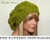 Cupcake Beret Knitting PATTERN, Artanis Calaelen, PDF DOWNLOAD