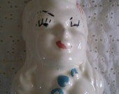 Glamour  Vintage  Lady Head Vase
