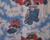 Vintage Set Of two 1980's TRANSFORMERS Curtains Circa 1984 Hasbro