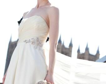 Great Gatsby Inspired Wedding Dress Ivory Lady Sheryn Chiffon