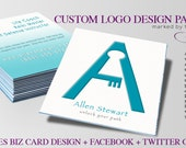 Custom Logo Design Package for Small Businesses Includes Business Card and Socai Media Graphics