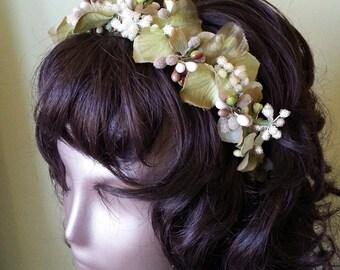 Woodland bridal headpiece headband