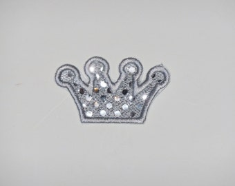 """Embroidered Iron On Applique  """"Princess Crown"""""""
