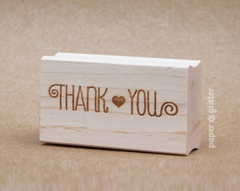 Thank You Rubber Stamp Funky Font