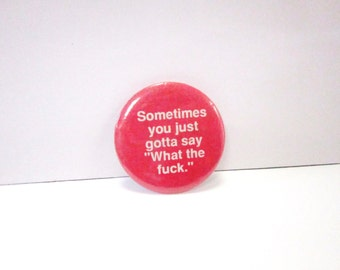 Vintage 80's X-Rated Button Badge DEADSTOCK