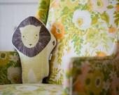Lion Pillow, Yellow Lion Pillow, Stuffed Lion, Animal Pillow, Gifts for Kids under 50. Modern Nursery Decor. Handmade Lion Pillow, Lion Toy