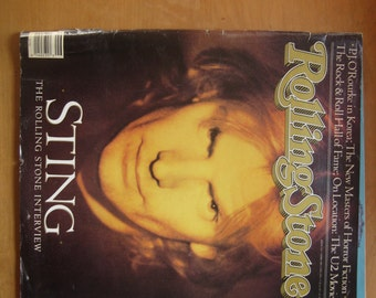 VINTAGE ROLLING STONE Sting Interview