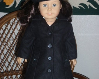 1930s 1940s 2 Pc Outerwear Wool Coat Beret for American Girl Molly Emily Kit Ruthie 18 inch doll