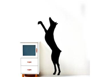 Black Doberman Pinscher Dog Outdoor Home Pet Silhouette Vinyl Decal Wall Decor Sticker