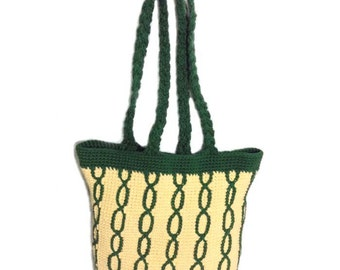 Ivy League Tote - PDF Crochet Pattern - Instant Download