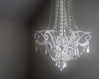 Wedding Lush Large Empire Candle Chandelier Pillar Style MADE TO ORDER