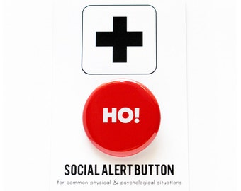 HO! Button - Stocking Stuffer Party Favor