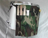 Roll It Ups Drumstick Bag in Camo Camouflage- Gift for Drummers Drum Bag Drumstick Stick Bag for Drummers on Drum Set and Percussion