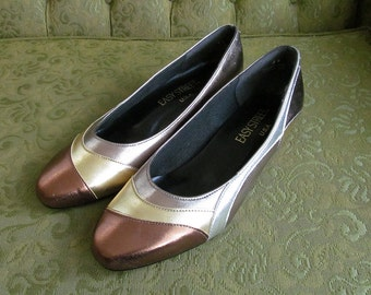 Vintage METALLIC TREASURE Pumps Size 8