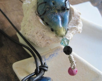 Buxom Lampwork GODDESS Necklace