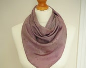 SALE SAVE 50% Deep Purple Triangular Silk Neck Scarf - Naturally Dyed Womens Organic Spring Accessory