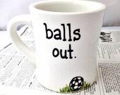 Soccer Mug, Mens Mug, boyfriend, husband, boss, coffee mug, tea cup, sports, coach gift, world cup, teacher gift, motivation, personalized