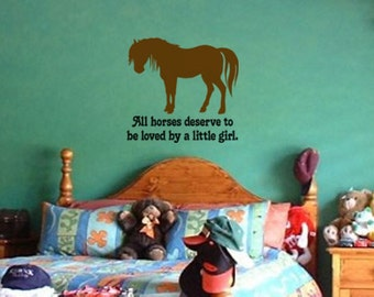Horse-Vinyl wall decal-Horse decal-Quote sticker-26 X 28 inches, 793-HQ
