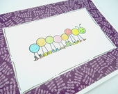 Happy Birthday Card, Caterpillar shoe card, Wish You a Happy Day, Friendship Day Card, Fashion lovers card, funny birthday, Purple White