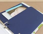 Keepsake Album Pocket - Navy -  Include in your Two Giggles Baby Album