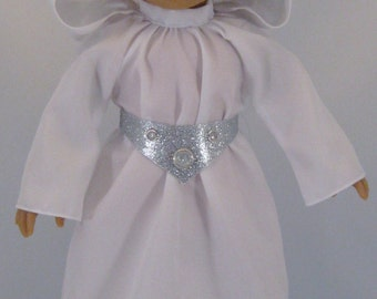 Princess Leia costume sized to fit American Girl Dolls