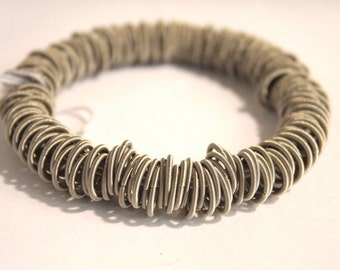 """Stainless Steel Spring Bracelet// """"Tiziana"""" Parisienne Designed// Jewelry Supply// Accessories"""