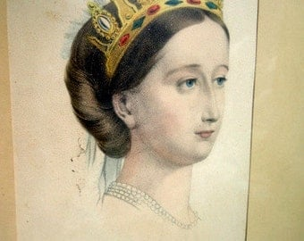 Empress Eugénie Queen Victoria Framed Currier and Ives