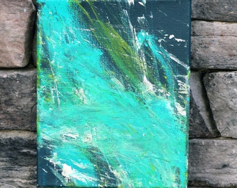 Storm Cloud - Original Blue Abstract Painting - Minnow the Painting Pony