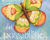 Believe in Possiblilities Butterfly With God All Things are Possible 8x10 or 11x14 Scripture Bible Verse Art Print