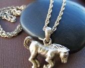 Annabell Vintage Estate Pendant - Sterling Silver Horse Necklace