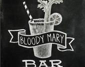 Chalkboard Print - Digital File 8x10 - Bloody Mary Bar