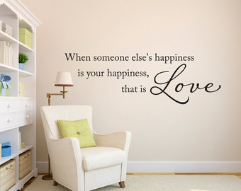 That is Love Wall Decal - Love Decal - Happiness Wall Art - Large