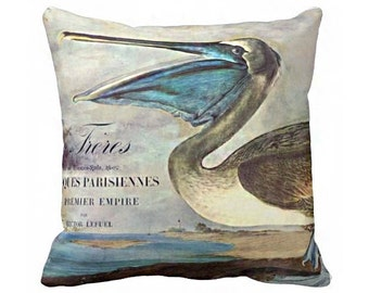Pillow cover Turqoise Pelican