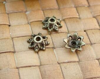 SALE:  50 pcs Antiqued Bronze Bead Caps (9 mm) - 30% Off