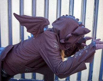 MADE TO ORDER Toothless How to train your dragon hoodie Nightfury