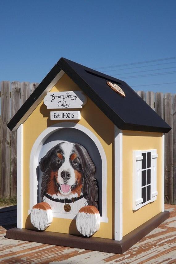 Dog House Wedding Card Box For Large By Mulberrylanefolkart
