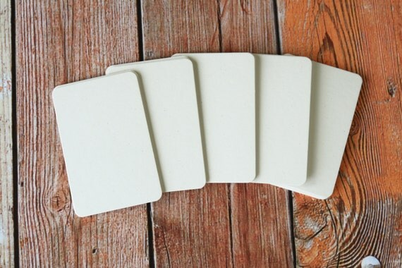50pc OATMEAL White Inclusions Series Business Card Blanks