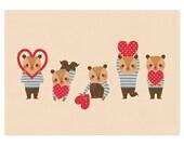 Bear in Love - A4 Giclée Print - 8.5x11 Art Print - Illustration - Valentine Print
