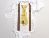 Easter outfit for newborn boy. Newborn bunny outfit for baby boy. Easter tie and suspenders bodysuit. Newborn photo prop. Newborn pictures.