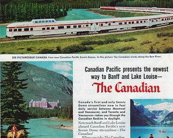 Vintage 1955 Canadian Pacific Railroad Ad
