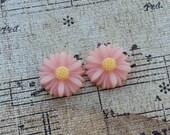 Flower Plugs Gauges Baby Pink Mini Sunflowers
